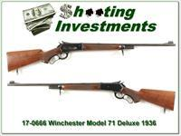 First Year 1936 Winchester Model 71 Deluxe 348 Win