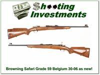 Browning Safari Grade 50's Belgium Collector 30-06!