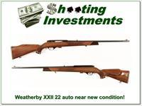Original Weatherby XXII Semi-auto in about new condition!
