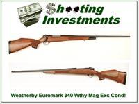 Weatherby Mark V Euromark 340 Wthy Mag as new!