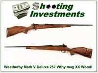 Weatherby Mark V Deluxe 257 Wthy mag XX Wood!