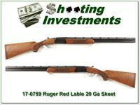 Ruger Red Label 20 Gauge XX Wood mint 26in IC and MOD