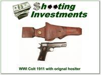 Colt 1911 WWI made in 1918 in original holster!