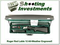 Ruger Red Label All-Weather Stainless Factory Engraved 12 Gauge!