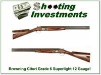 Browning Citori Grade 6 VI 12 Gauge Superlight as new XX Wood!