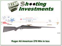 Ruger American 270 Winchester in box!