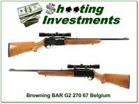 Browning BAR Grade II 270 Win w Leupold!