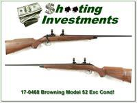 Browning Model 52 22 LR Rimfire near new!
