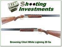 Browning Citori 20 Gauge White Lightning 20 Ga 26in as new!