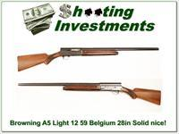 Browning A5 Light 12 59 Belgium Solid Rib