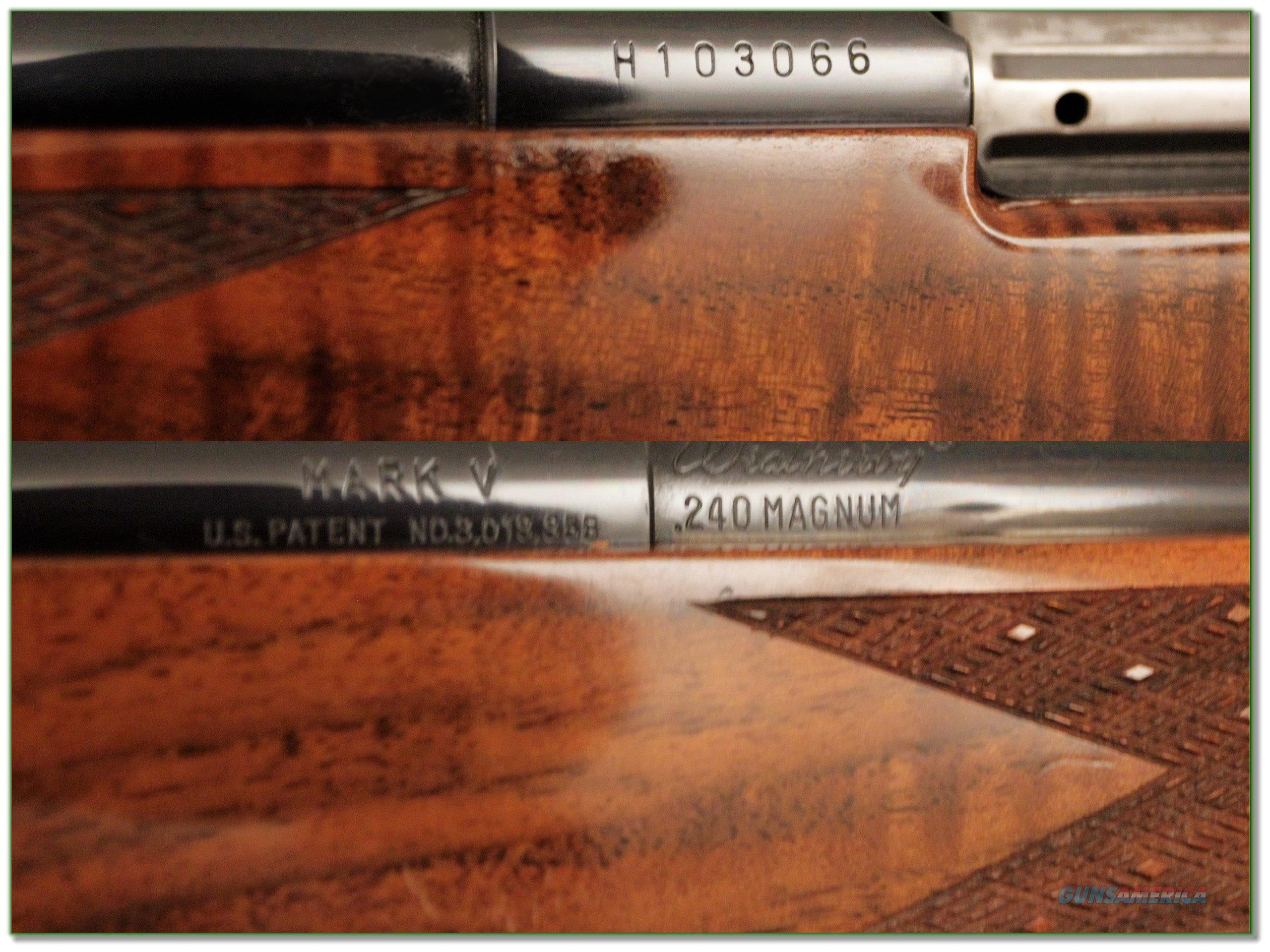 Weatherby Mark V Deluxe Lh 240 Xxx Wood For Sale