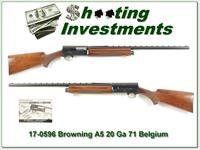 Browning A5 20 Gauge 71 Belgium 26in IC VR!