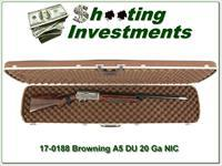 Browning A5 20 Gauge DU XXX Wood in case