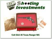 Colt SAA 45 7.5in Texas Ranger New in Display Case!