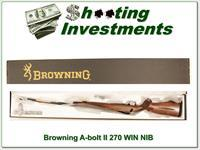Browning A-bolt II Medallion 270 last of the new ones!
