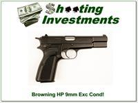 Browning HP 9mm Semi-auto Exc Cond!