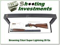 Browning Citori Rare Super Lightning 28in 20 Ga NIB!