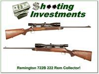 Remington Model 722B 222 Rem with Unertl 10x scope