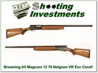 Browning A5 Magnum 12 70 Belgium VR Exc Cond!