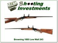 Browning 1885 Low Wall 243 Winchester Exc Cond