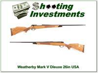 Weatherby Mark V Deluxe 300 USA 26in Blond!