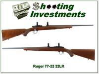 Ruger 77/22 22LR early model hard buttplate gun