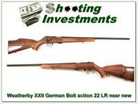 Weatherby XXII 22 Bolt action Anschutz made as new