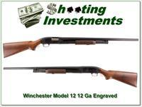 Winchester Model 12 1954 12 Ga with Pigeon engraving!