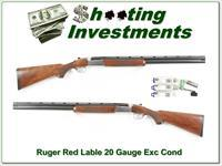 Ruger Red Label 20 Gauge Silver 28in choke tubes