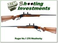 Ruger No.1 Red Pad rare 270 Wthy Mag Exceptional wood as new!