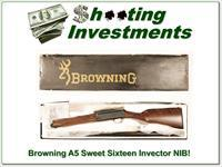 Browning A5 Sweet Sixteen new unfired in box VR 26in!