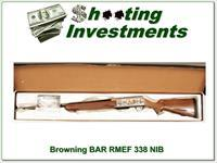Browning BAR RMEF 338 unfired in box!