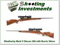 Weatherby Mark V Deluxe 300 with 30mm Burris