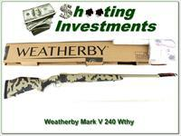 Weatherby Mark V Arroyo RC (Range Certified) 240 Wthy NIB