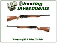 Browning BAR Safari Mark II 270 Winchester Exc Cond!