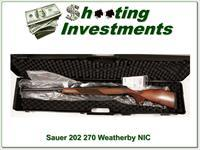 Sauer 202 in 270 Weatherby New in Case!