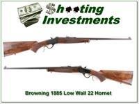 Browning 1885 Low Wall 22 Hornet Exc Cond