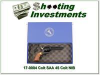 Colt SAA 4.75in unfired RARE full blued in box with papers!