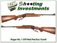 Ruger No. # 1 Light Sporter 270 Winchester Red Pad!