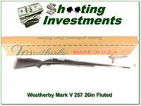 Weatherby Mark V 257 Wthy 26in Fluted Synthetic ANIB