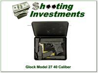 Glock 27 40 S&W 4 magazines laser site grip in case