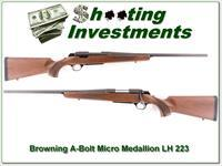 Browning A-Bolt II Left-Handed Micro 223 near new!