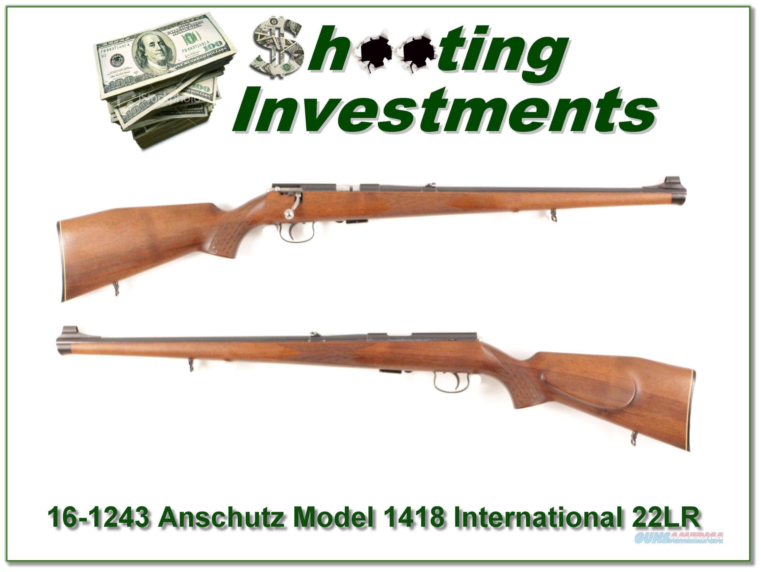 Anschutz Model 1418 International 22LR