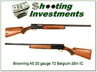 Browning A5 20 Gauge 72 Belgium 26in VR IC!