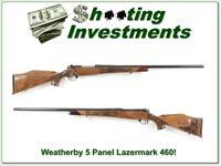 Weatherby Mark V 5 Panel Lazermark 460 Custom Shop!