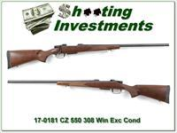 CZ 550 308 26in Varmint barrel as new!