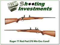 Ruger Model 77 Red Pad 270 Exc Cond!