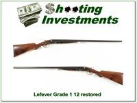 Lefever Grade 1 12 Gauge fully restored made in 1883!