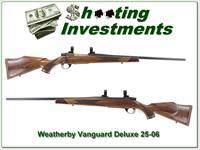 Weatherby Vanguard Deluxe in harder to find 25-06 as new!