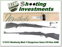 WEATHERBY Mark V Dangerous Game 416 Rem Mag in box